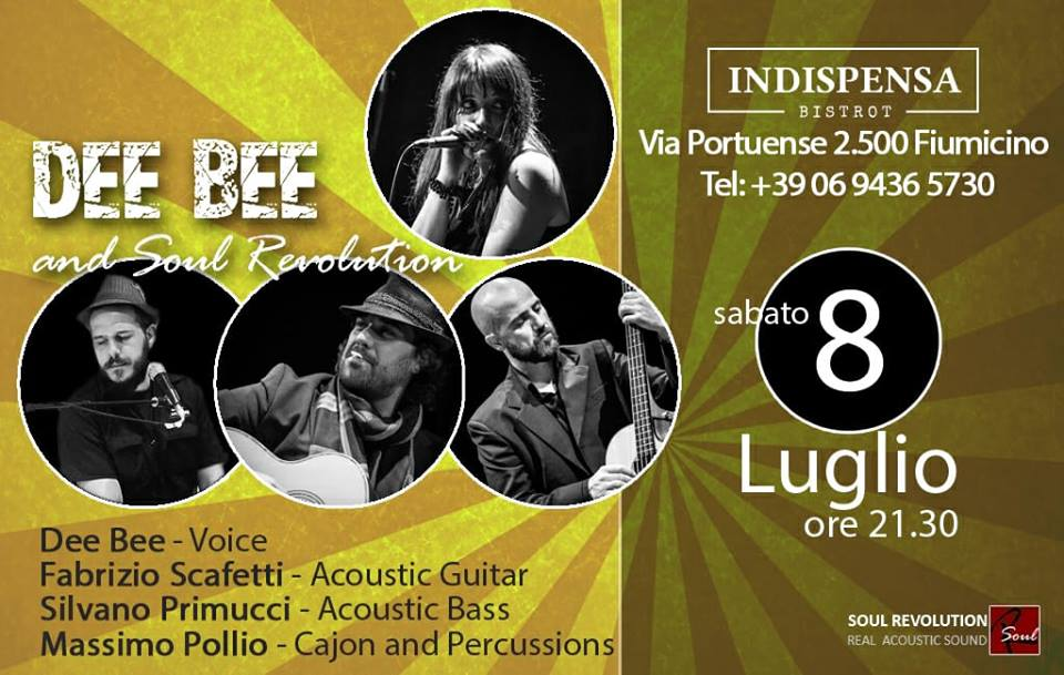 Concerto Soul Revolution Sabato 8 Luglio