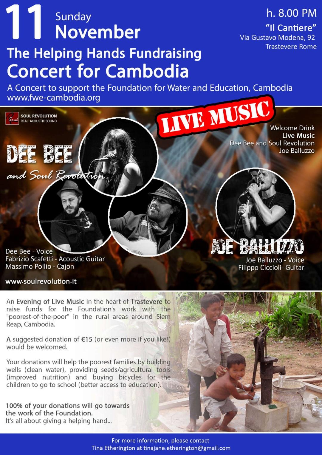 Concerto di beneficenza per la Cambogia